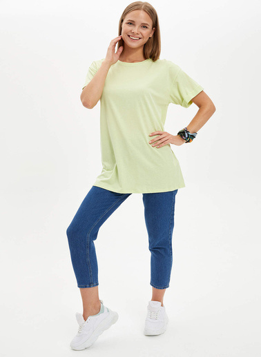 DeFacto Uzun T-shirt Yeşil